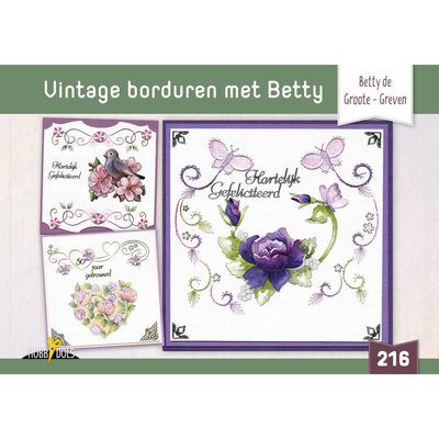 Hobbydols 216 Vintage borduren met Betty - Betty de Groote HD216