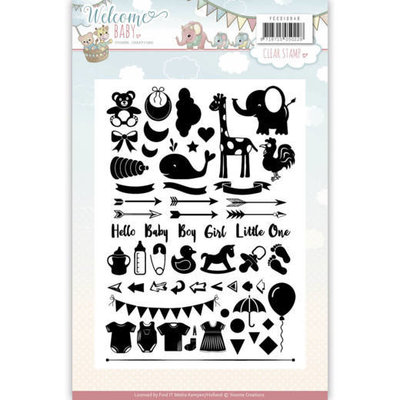 Clearstamp - Yvonne Creations - Welcome Baby YCCS10040