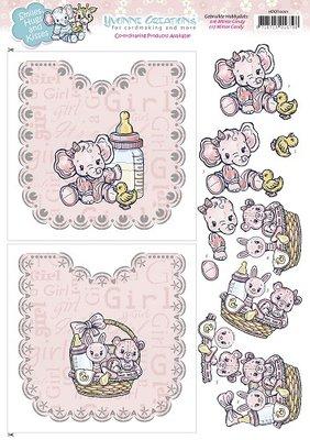 Hobbydots Sheets - Yvonne Creations - Baby Girl HDOT10001