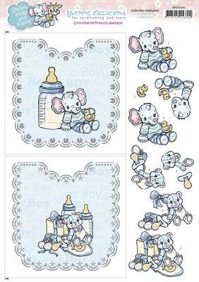 Hobbydots Sheets - Yvonne Creations - Baby Boy HDOT10002
