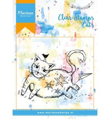 Marianne design, Clear Stamp  -  FAT cat