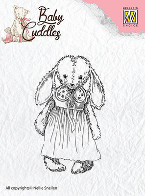 Clear Stamps - Baby Cuddles - Cuddly girl  - CSBC002