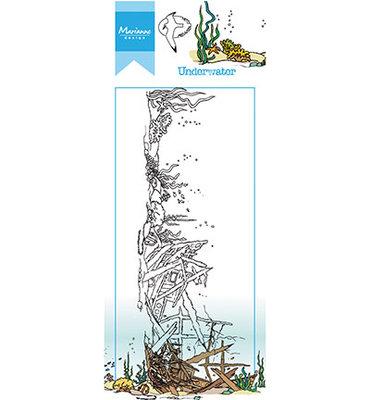 Marianne design, Clear Stamp -HT1620 - Hetty's border – Underwater