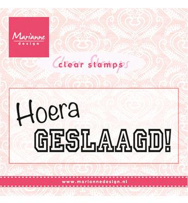 Marianne design, Clear Stamp - CS0933 - Hoera GESLAAGD