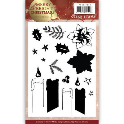 Clear Stamp - Precious Marieke - Merry and Bright Christmas - Candle PMCS10032