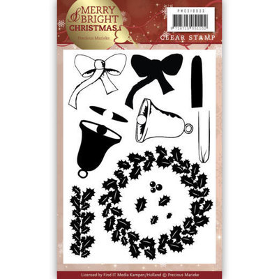 Clear Stamp - Precious Marieke - Merry and Bright Christmas - Wreath PMCS10033