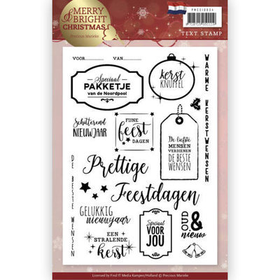 Clear Stamp - Precious Marieke - Merry and Bright Christmas - NL PMCS10034