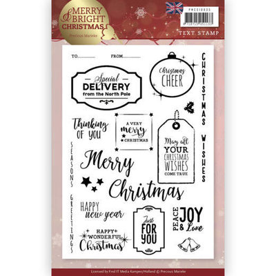 Clear Stamp - Precious Marieke - Merry and Bright Christmas - ENG PMCS10035