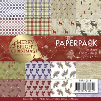 Paperpack - Precious Marieke - Merry and Bright Christmas PMPP10019