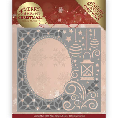 Dies - Precious Marieke - Merry and Bright Christmas - Lantern Frame PM10125