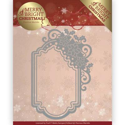 Dies - Precious Marieke - Merry and Bright Christmas - Poinsettia Ornament PM10127