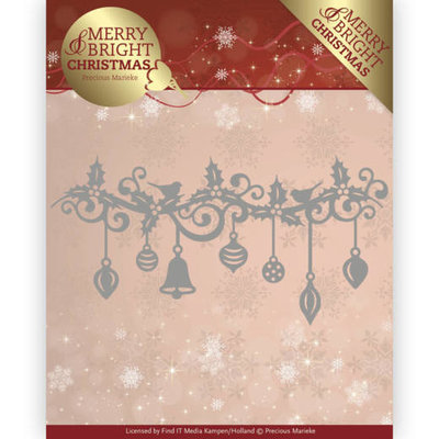 Dies - Precious Marieke - Merry and Bright Christmas - Christmas Garland PM10128