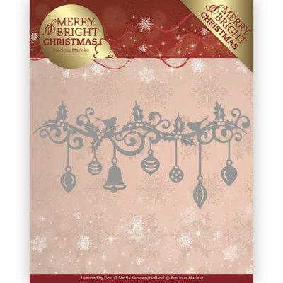 Dies - Precious Marieke - Merry and Bright Christmas - Christmas Garland PM10128
