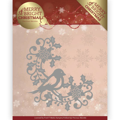 Dies - Precious Marieke - Merry and Bright Christmas - Bird Corner PM10130