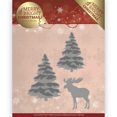 Dies - Precious Marieke - Merry and Bright Christmas - Forest PM10131
