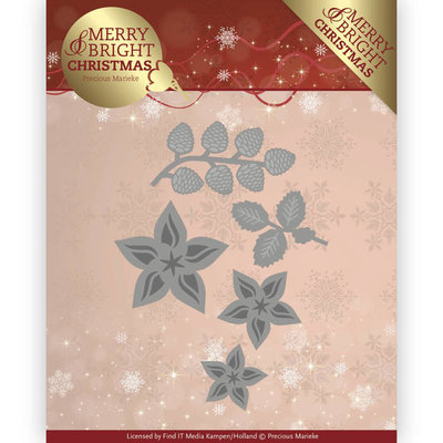 Dies - Precious Marieke - Merry and Bright Christmas - Christmas Florals PM10132