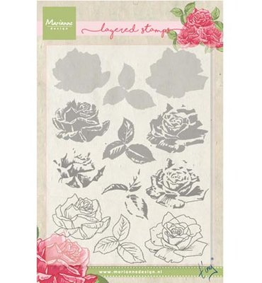 Clear stamp Tiny's rose (layering)