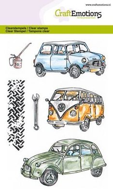 CraftEmotions clearstamps A6 - Classic Cars 1