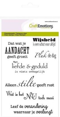 CraftEmotions clearstamps A6 - spirituele teksten (NL)