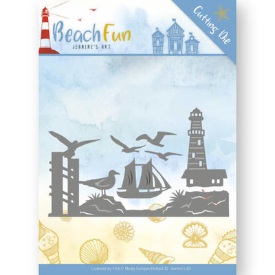 Dies - Jeanine's Art - Beach Fun - Lighthouse Border JAD10039