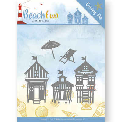 Dies - Jeanine's Art - Beach Fun - Beach Houses JAD10040