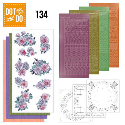 Dot and Do 134 - Purple Flowers DODO134