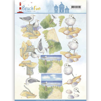3D knipvel - Jeanine's Art - Beach Fun - Seagulls CD11068