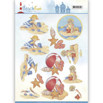 3D knipvel - Jeanine's Art - Beach Fun - Playing in the Sun CD11067