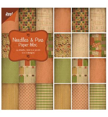 @ Joy! papier/stansblok 15x30 cm - Needles & Pins 6011/0317
