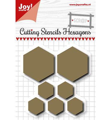 Joy! scr@p stencil  6002/1108 - Scrap Snijstencil - Hexagons