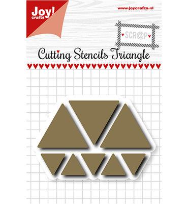 Joy! scr@p stencil  6002/1107 - Scrap Snijstencil - Triangles