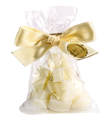 18104311 - schapenmelk zeepjes - Hartjes Mini 10 st. White in Cello
