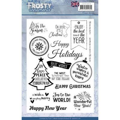 Textstamp - Jeanine's Art - Frosty Ornaments - ENG JACS10019