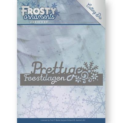 Dies - Jeanine's Art - Frosty Ornaments - Text Prettige Feestdagen JAD10044