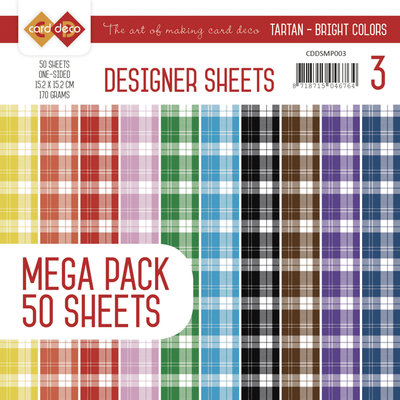 Designer Sheets Mega Pack 3 - Tartan - Bright Colors CDDSMP003