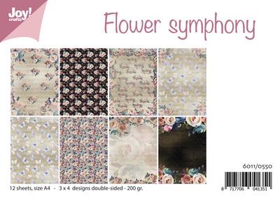 Joy! papierset flower symphony6011/0550