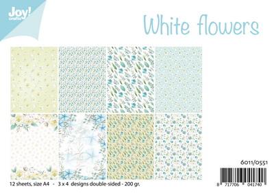 Joy! papierset white flowers6011/0551