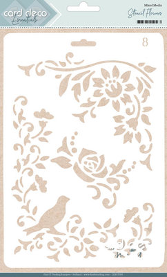 Card Deco Essentials - Stencil Flowers CDEST005