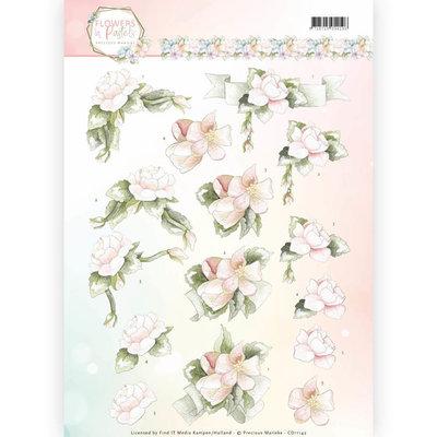 3D Knipvel - Precious Marieke - Flowers in Pastels - Believe in Pink CD11142