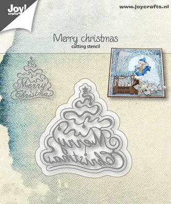 Joy! stencil 6002/1054 - stencil kerstboom Merry Christmas