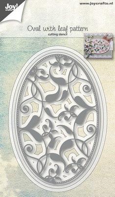 Joy! stencil 6002/1074 - stencil ovaal met bladpatroon