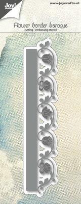 Joy! stencil 6002/1124 - stencil bloemenrand barok