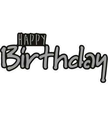 Marianne design, CR1320 - Happy BIRTHDAY