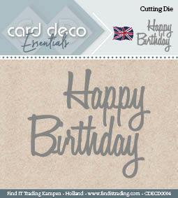 Card Deco Cutting Dies- Happy Birthday CDECD0004