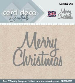 Card Deco Cutting Dies- Merry Christmas CDECD0003