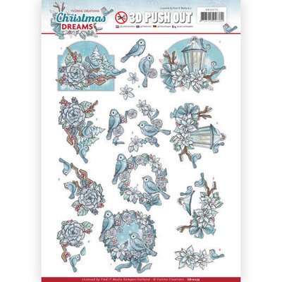 3D Pushout - Yvonne Creations - Christmas Dreams - Christmas Birds SB10275