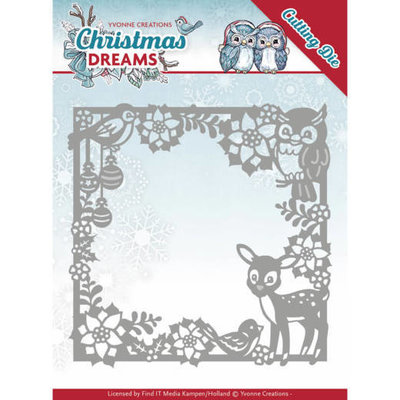 Dies - Yvonne Creations - Christmas Dreams - Christmas Animal Frame YCD10140