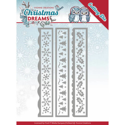 Dies - Yvonne Creations - Christmas Dreams - Christmas Borders YCD10141