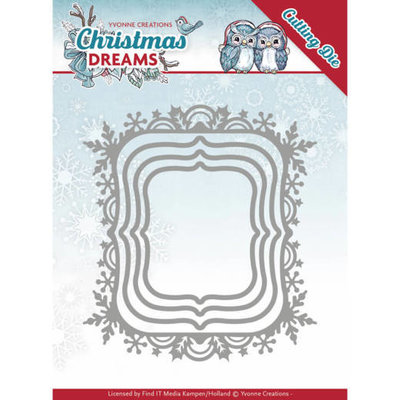 Dies - Yvonne Creations - Christmas Dreams - Christmas Borders YCD10142