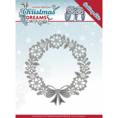 Dies - Yvonne Creations - Christmas Dreams - Poinsettia Wreath YCD10143